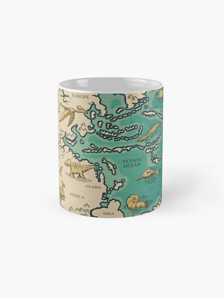 Alternate view of map of the supercontinent Pangaea Mug