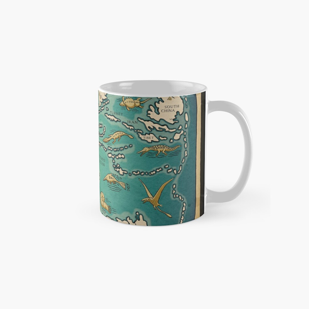 map of the supercontinent Pangaea Mug