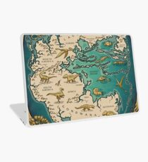 map of the supercontinent Pangaea Laptop Skin