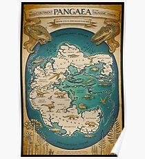 map of the supercontinent Pangaea Poster