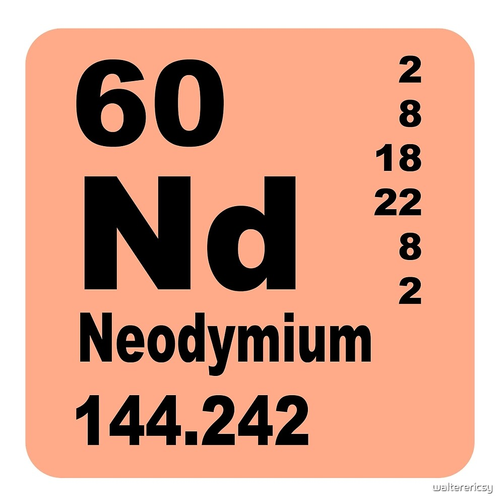 Neodymium periodic table of elements by walterericsy redbubble neodymium periodic table of elements by walterericsy gamestrikefo Choice Image