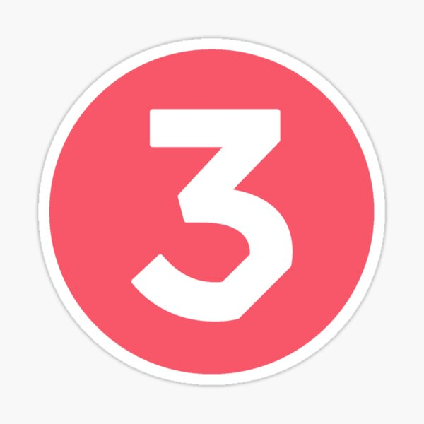 Chance three 3 Sticker