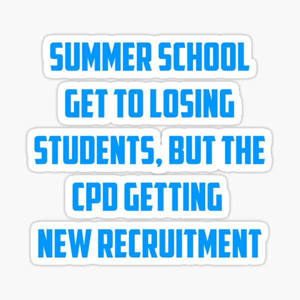 Summer friends cpd school Sticker