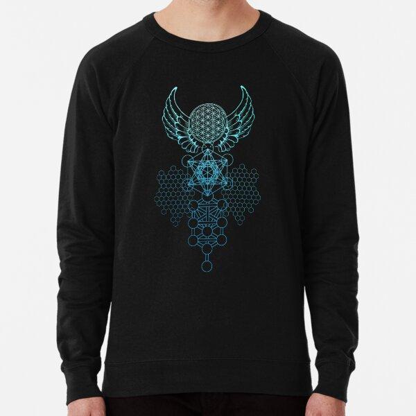 Abstract Sacred Geometry Flower of Life  Lightweight Sweatshirt