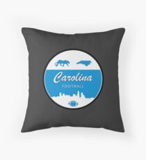 Carolina Football Minimal Circle Throw Pillow