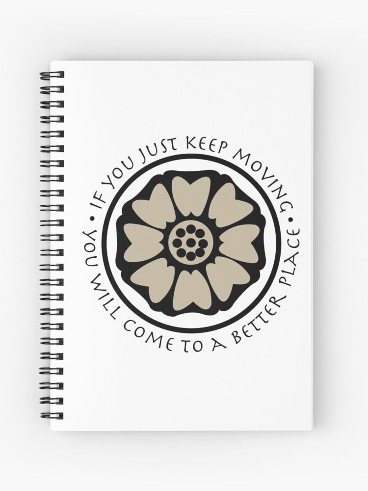 White Lotus Tile Avatar Spiral Notebook By Glameour Redbubble