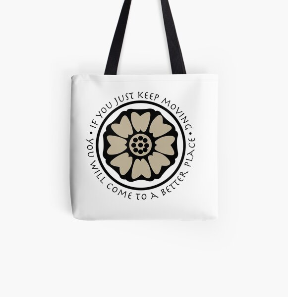 White Lotus Tile - Avatar  All Over Print Tote Bag