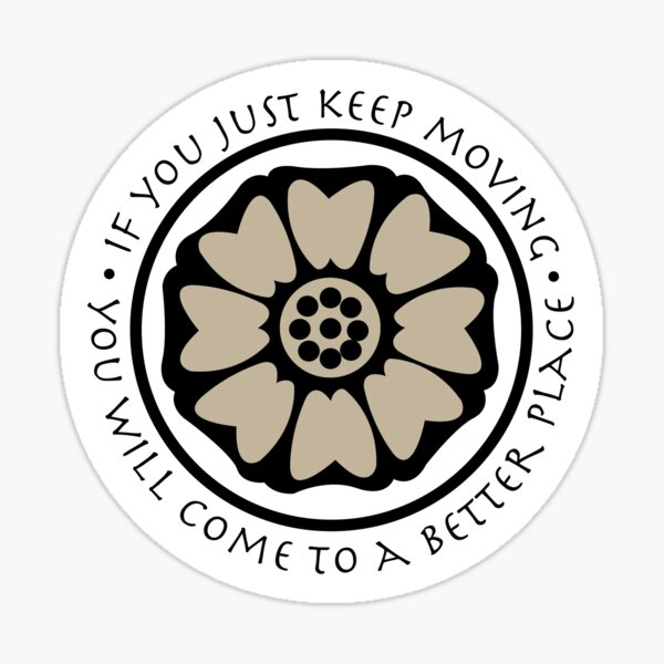 White Lotus Tile - Avatar  Sticker