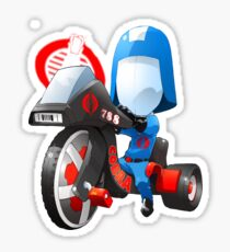 Cobra Commander on 80's big wheel Sticker