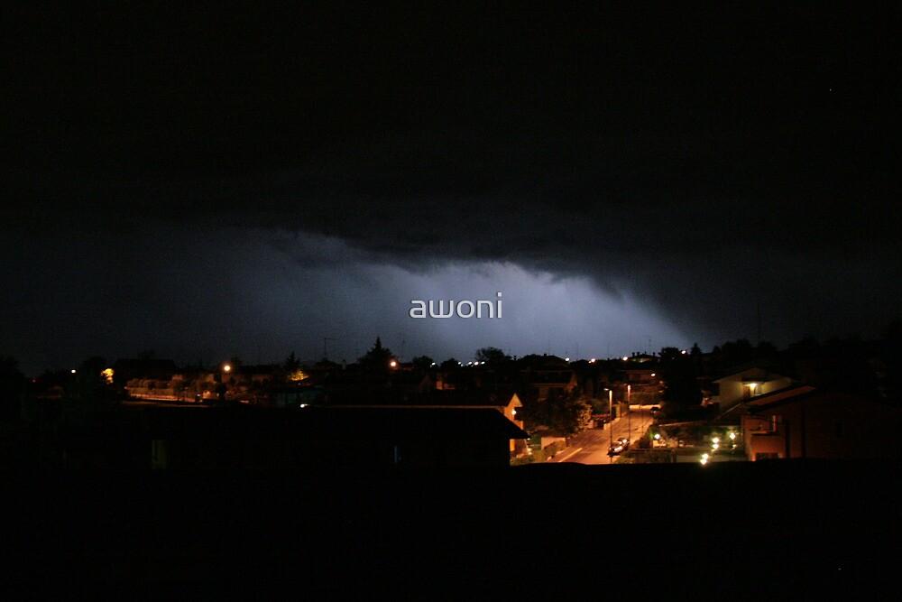 Stormy Italian Night  by awoni