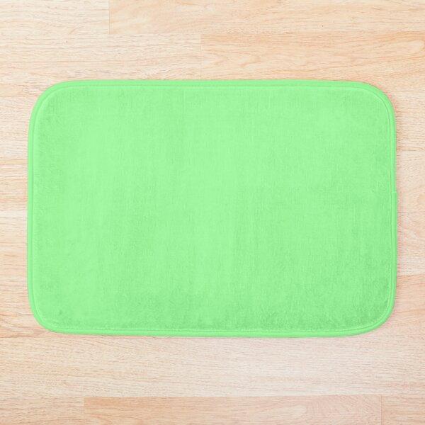 Solid Light Mint Green Color  Bath Mat