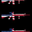 M16A4 Rifle American Flag by nothinguntried