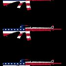 M16A2 Rifle American Flag by nothinguntried