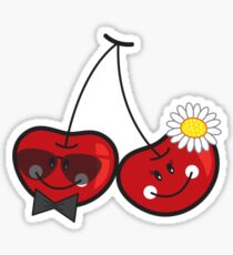Mr. & Mrs. Cute Cheeky Cherries Sticker