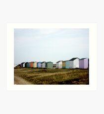Kent Beach Huts Art Print