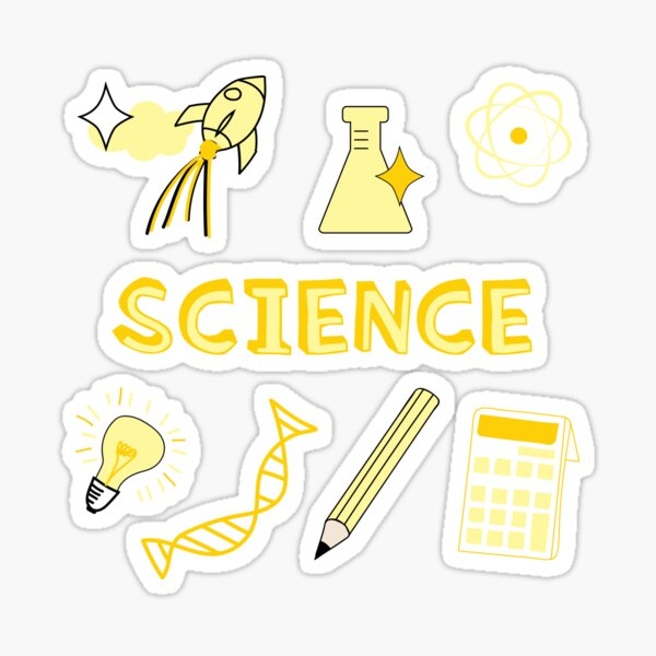 Light Yellow Science School Subject Sticker Pack Sticker