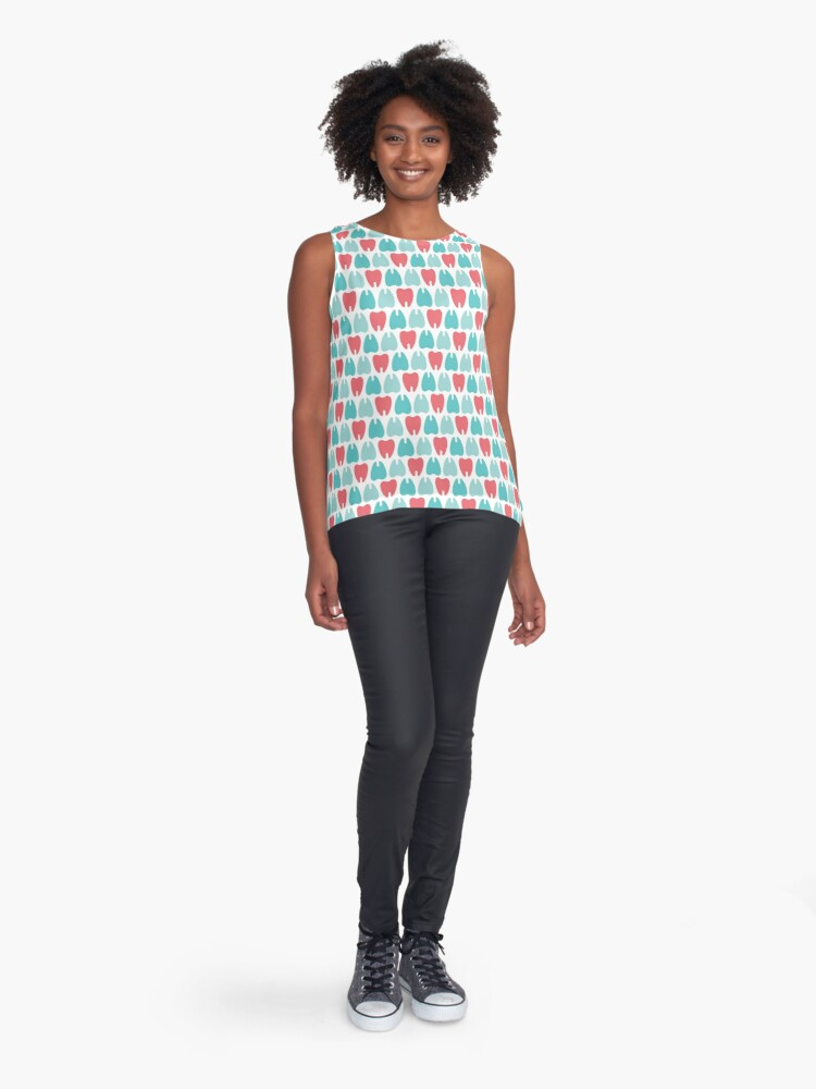 Alternate view of Colored teeth Sleeveless Top