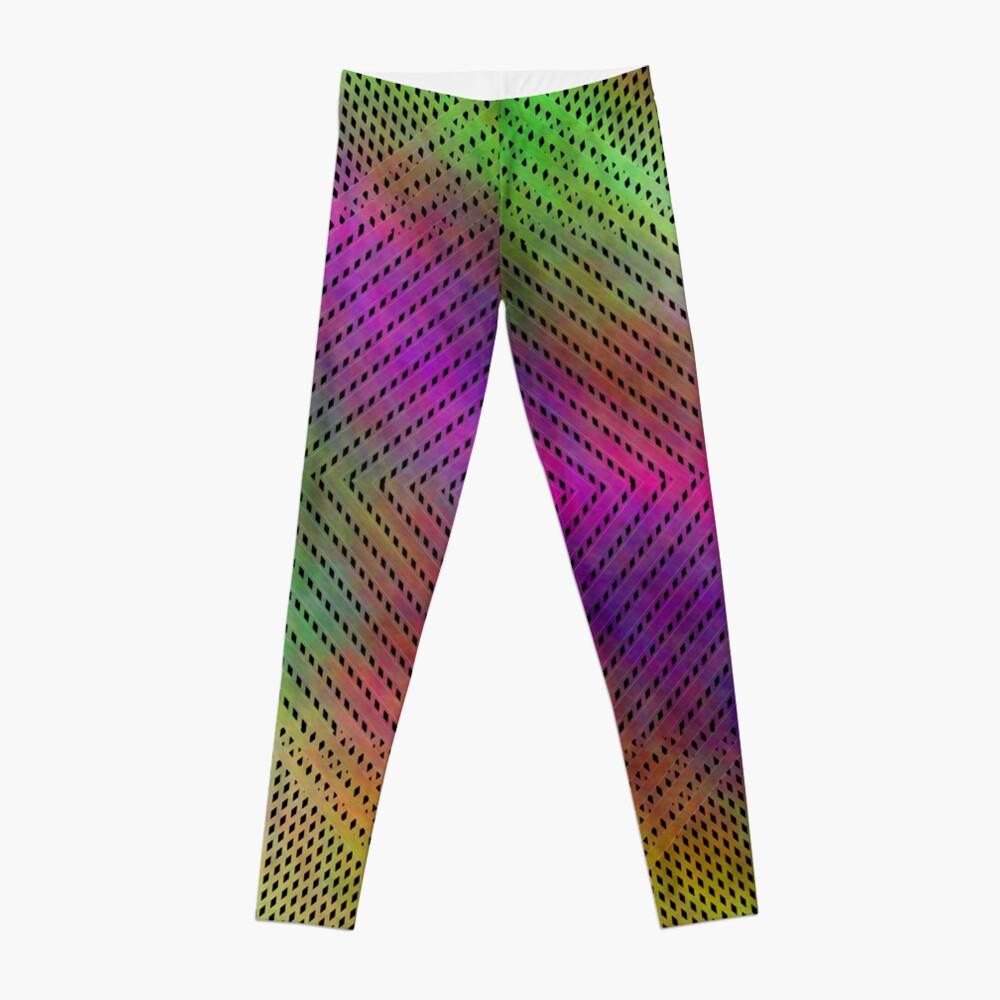 #Abstract, #gradation, #pattern, #creativity, design, rainbow, art, template, canvas, violet, shape Leggings