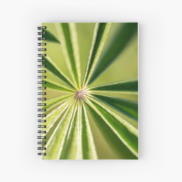 Lupine Leaves Spiral Notebook