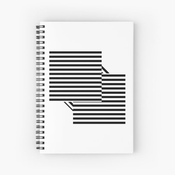 #OpArt #OpticalArt #Pattern #design abstract art illusion repeat repetition fashion Spiral Notebook