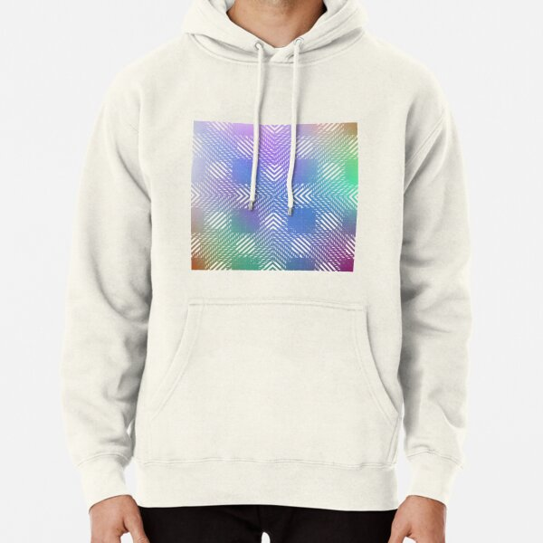 #Illustration, #pattern, #decoration, #design, abstract, black and white, monochrome, circle, geometric shape Pullover Hoodie