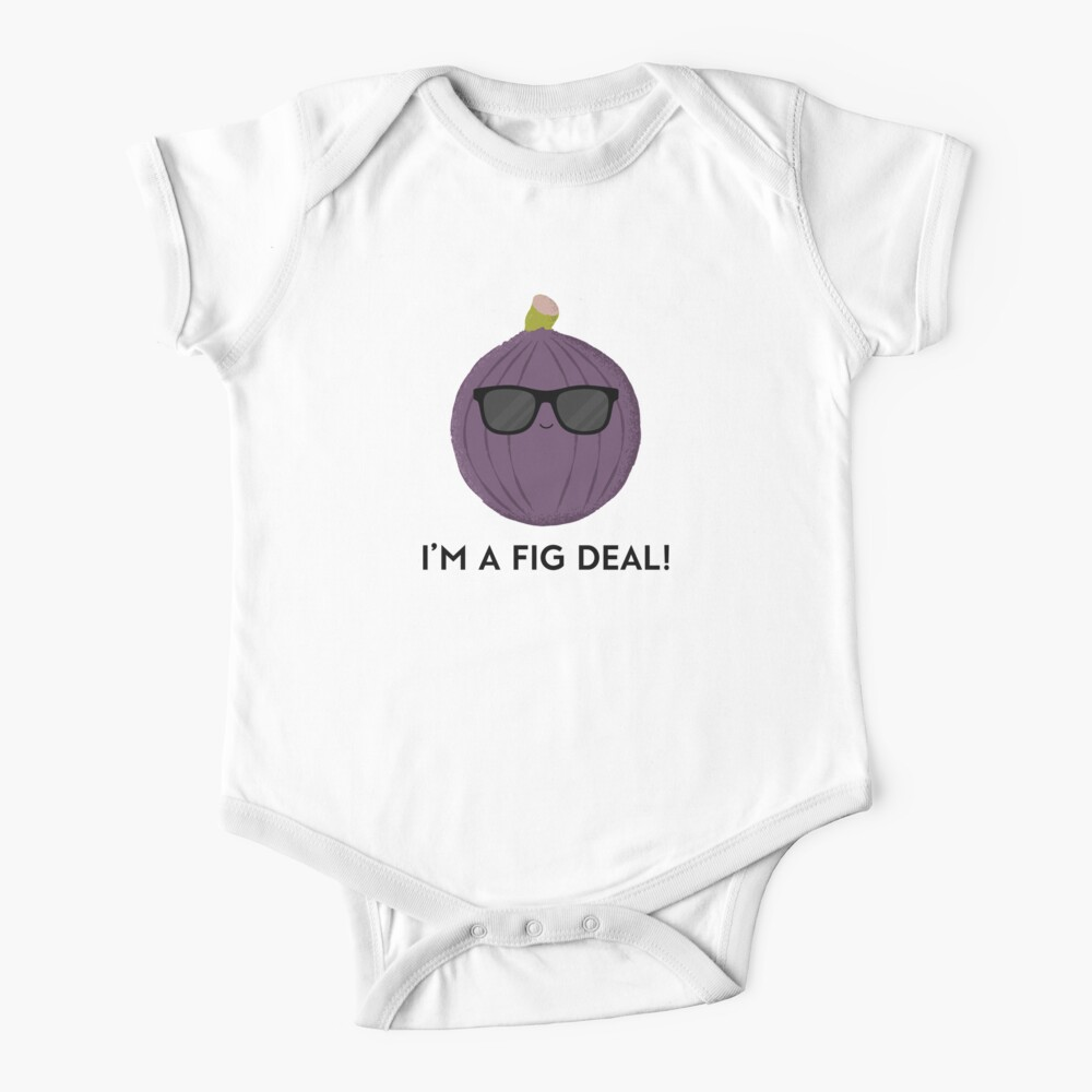 Funny fig wearing sunglasses I'm a fig deal Baby One-Piece