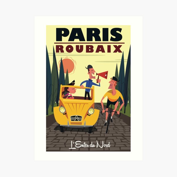 Paris-Roubaix poster Art Print