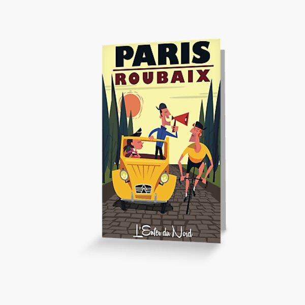Paris-Roubaix-Plakat Grußkarte