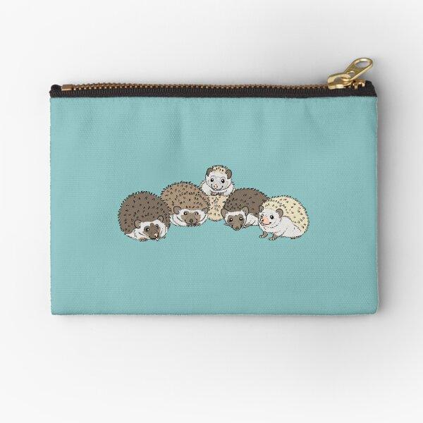 Hedgehog Group Zipper Pouch