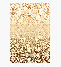 Tribal Swirl Pattern in Neutral Tan and Cream Photographic Print