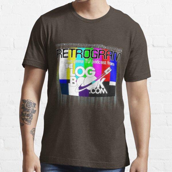 Retrogram Color Bars & Logo Essential T-Shirt