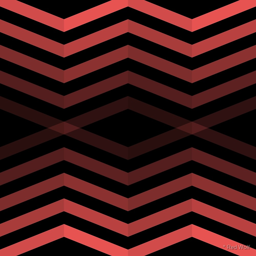 Geometric Pattern: Chevron Cascade: Red Dark by * Red Wolf