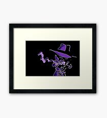 Purple Tracer Bullet Framed Print