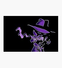 Purple Tracer Bullet Photographic Print