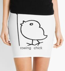 Rowing chick rowing apparel for women who row geek funny nerd Mini Skirt
