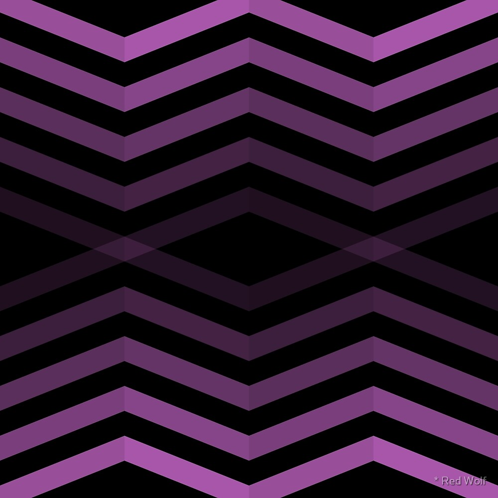 Geometric Pattern: Chevron Cascade: Purple Dark by * Red Wolf