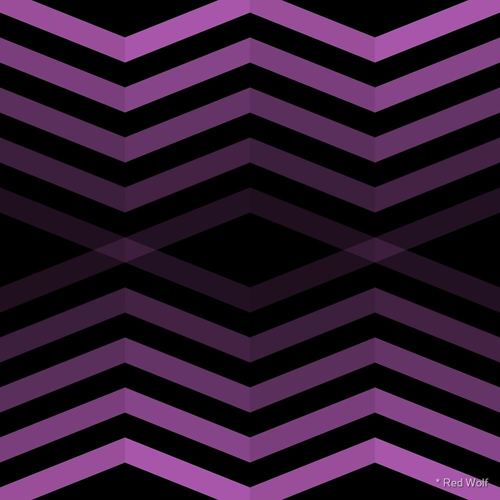 Geometric Pattern: Chevron Cascade: Purple Dark by * Red Wolf