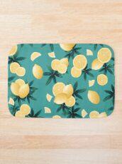 Lemon Twist Vibes #6 #tropical #fruit #decor #art  Bath Mat