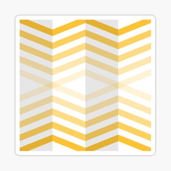 Geometric Pattern: Chevron Cascade: Yellow Light Sticker