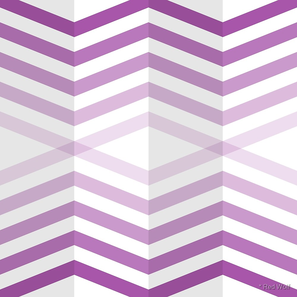 Geometric Pattern: Chevron Cascade: Purple Light by * Red Wolf