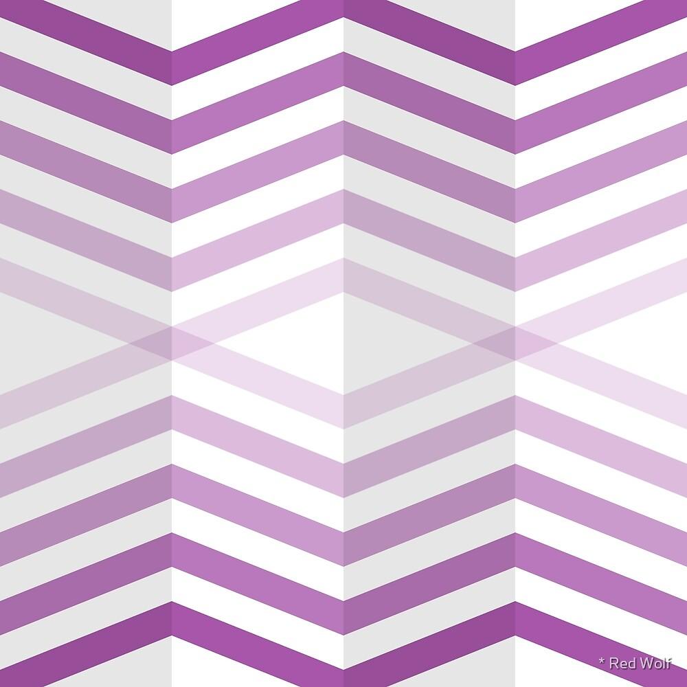 Geometric Pattern: Chevron Cascade: Purple Light by * Red Wolf