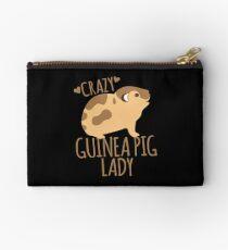 Crazy Guinea Pig Lady Zipper Pouch
