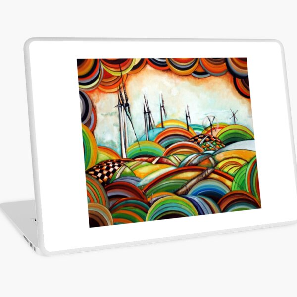 Il Camino de Santiago - Windmills Laptop Skin