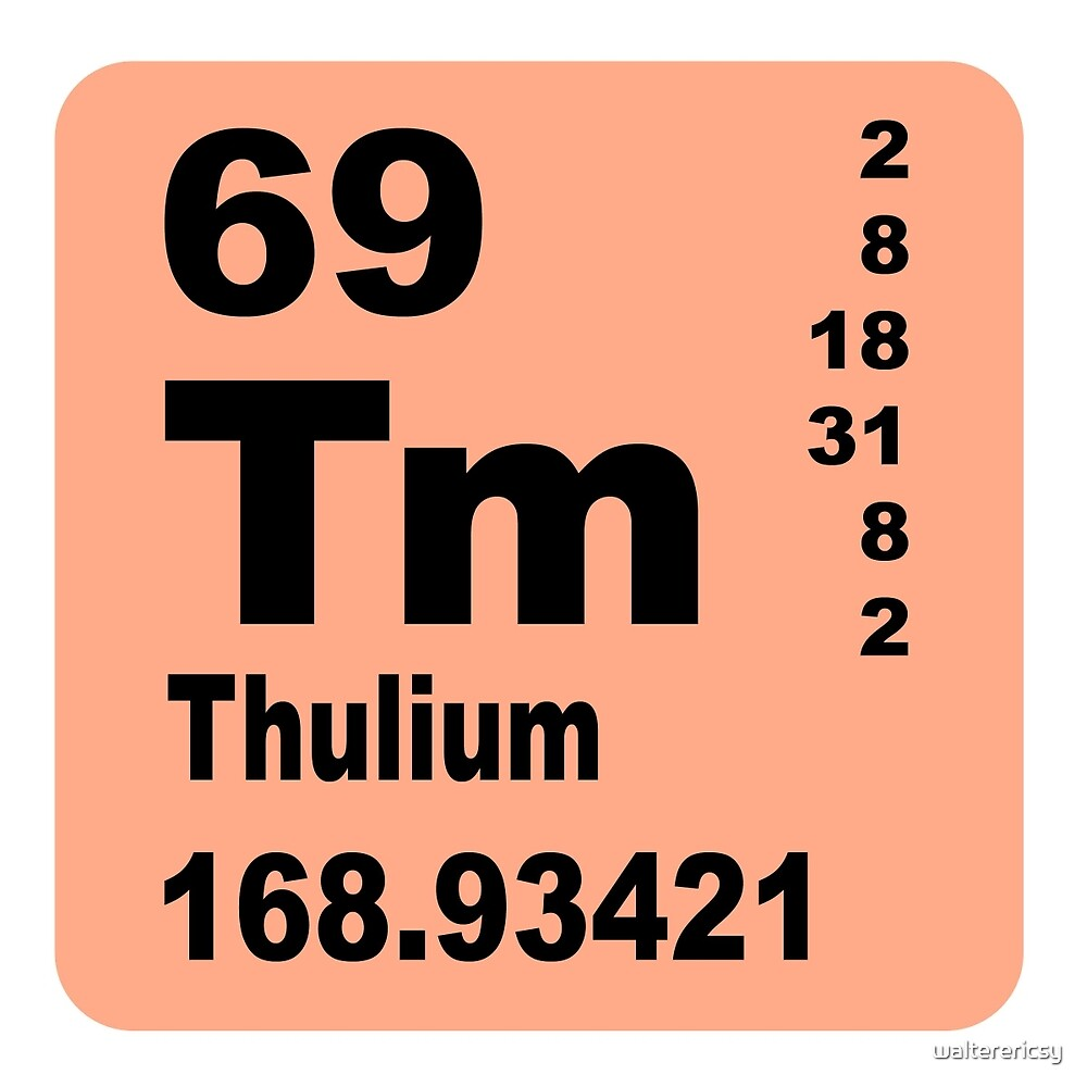 Thulium periodic table of elements by walterericsy