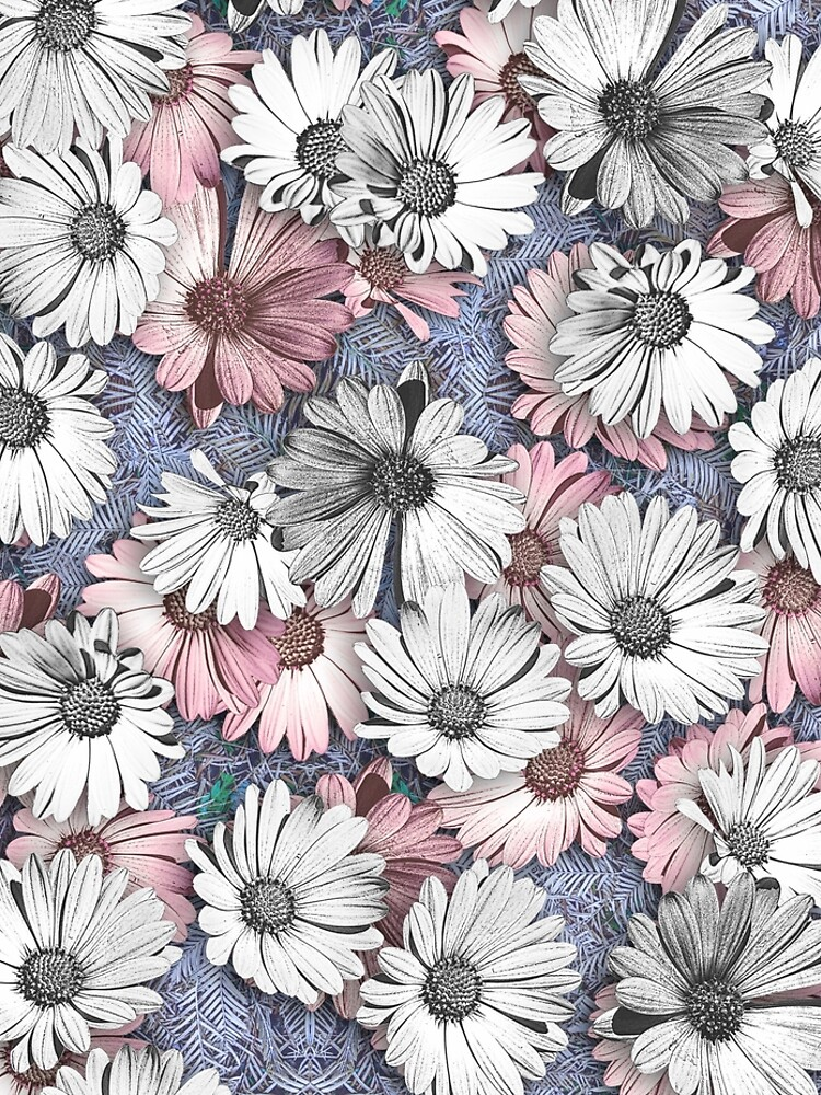 AFRICAN DAISIES ON THE FOREST FLOOR COLLAGE 2 by JeffBossler