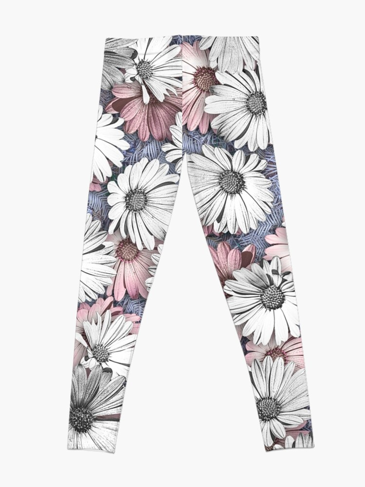 Alternate view of AFRICAN DAISIES ON THE FOREST FLOOR COLLAGE 2 Leggings