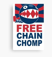 Free Chain Chomp Funny T-Shirt & Hoodies Canvas Print