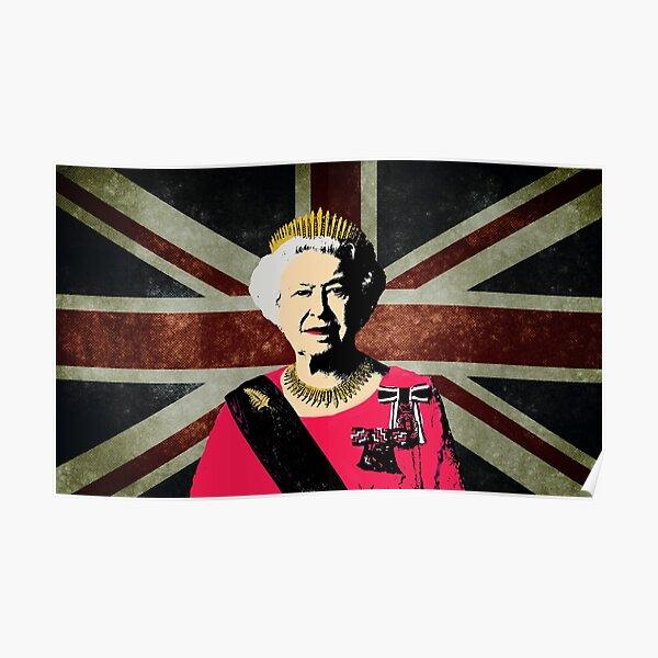 Königin Elizabeth die zweite Poster