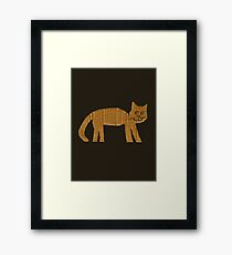 Simple cat Framed Print