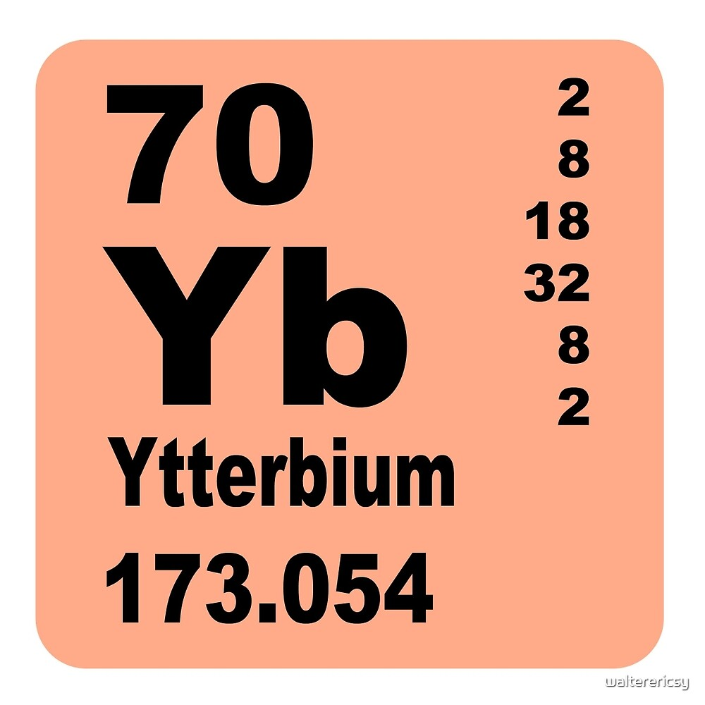 Ytterbium periodic table of elements by walterericsy